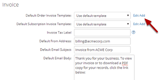 Add A New Invoice Template  Custom Invoice Template